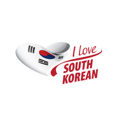 National flag south korean in shape of vector