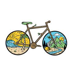 Nature bike vector