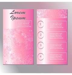 original template for beauty and Spa booklet vector image