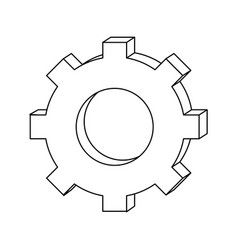 outline industry gear process engineering vector image