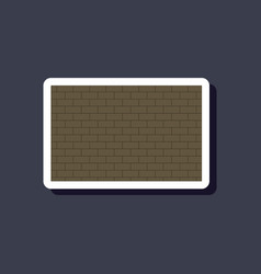 Paper sticker on stylish background brick wall vector