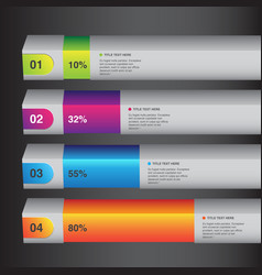 percentage info graphic white bars vector image