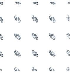 qround globe icon pattern seamless white vector image