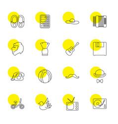 retro icons vector image
