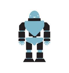 robot cartoon style vector image