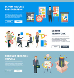 Scrum processes teamwork agile sprints software vector