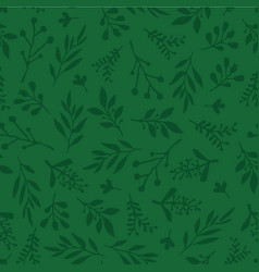 Seamless background abstract leaves green vector