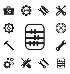 Set of 12 editable repair icons includes symbols vector