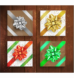 Set of gift boxes - christmas and birthday giftbox vector