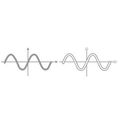 sinewave it is black icon vector image