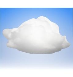 single cloud vector image