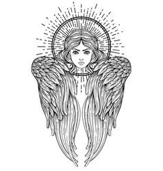 sirin alkonost gamayun mythological creature of vector image