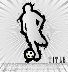 Soccer silhouette break through white background vector