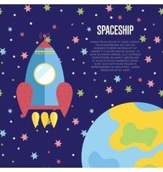 Spaceship conceptual web banner vector