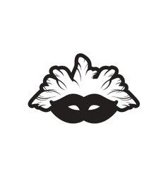 Stylish black and white icon Carnival mask vector
