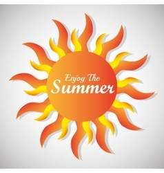 Summer sun cartoon vector image