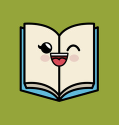 Text book character handmade drawing vector