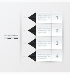 Timeline report template black and white color vector