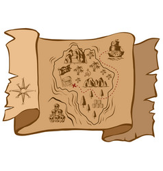 Treasure map on old paper vector