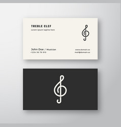 Treble clef sign abstract logo and business vector
