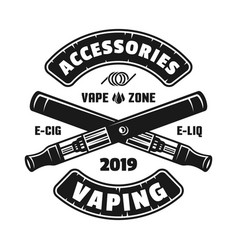 two crossed electronic cigarettes or vaping vector image