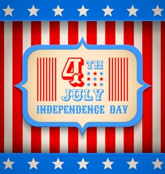 USA banner independence day vector