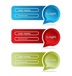 Web interface bubble login set vector