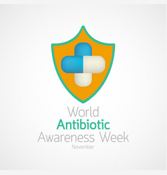 World antibiotic awareness week icon vector