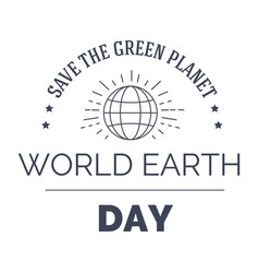 world earth day isolated monochrome icon planet vector image