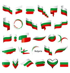biggest collection of flag of Bulgaria vector image vector image