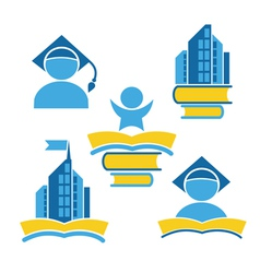 education icons vector image vector image
