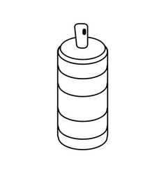 spray can container thin line vector image