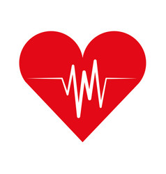 cardiology pulse isolated icon vector image