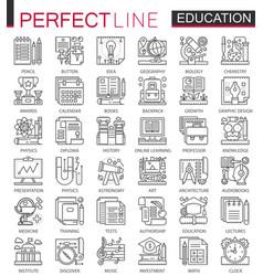 education outline mini concept symbols modern vector image vector image