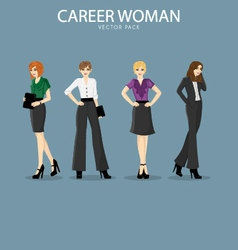 Four smart and fashionable career woman vector image vector image