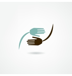hands icon vector image vector image