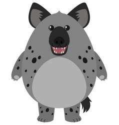 hyena with round body vector image