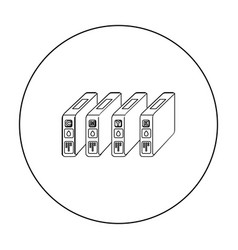 ink cartridges in outline style isolated on white vector image vector image