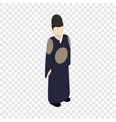 male korean isometric icon vector image
