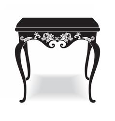 Rich Baroque coffee Table vector image vector image