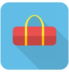 Sports bag icon vector image