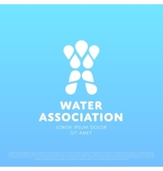 Water Man Logo vector image vector image