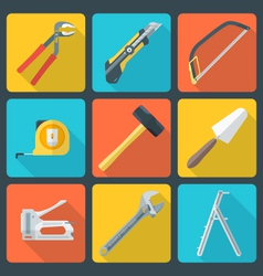 flat house remodel tools icons vector image vector image