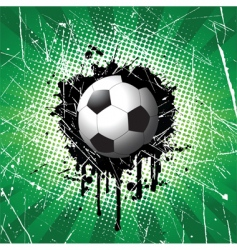grunge football vector image vector image