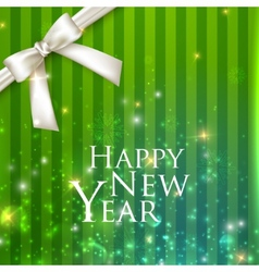 holiday background with a white bow Happy new year vector image