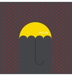 Modern umbrella with drops vector