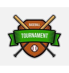 Baseball summer sport tournament logo vector image