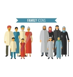 Family icons set Traditional Culture vector image vector image