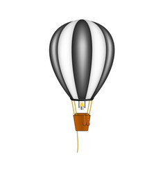 hot air balloon in black and white design vector image vector image