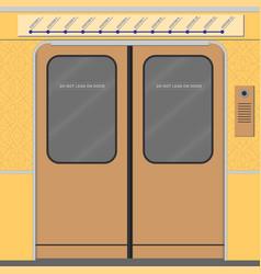 old subway train doors vector image vector image
